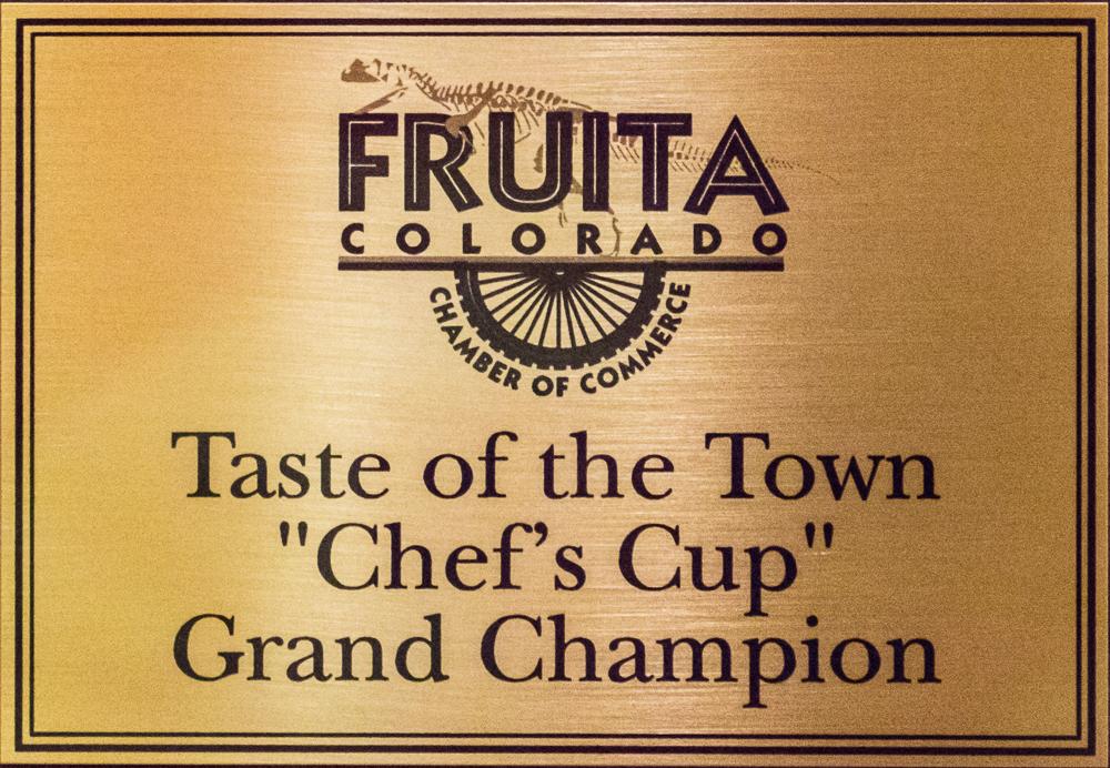 Award winning food, Taste of the Town of Fruita,